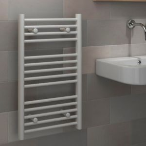 View Kudox Flat Ladder Contemporary Towel Warmer White (H)700 (W)400mm details