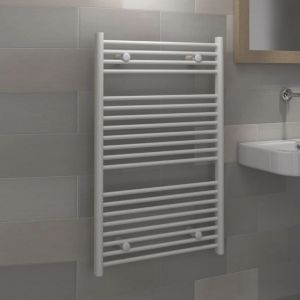 View Kudox Flat Ladder Towel Warmer White (H)974 (W)450mm details