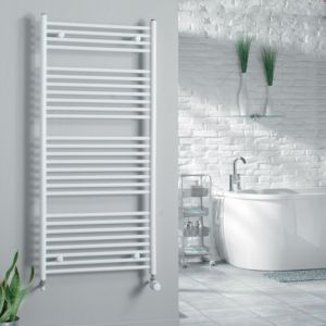 View Kudox Flat Ladder Towel Warmer White (H)1674 (W)450mm details