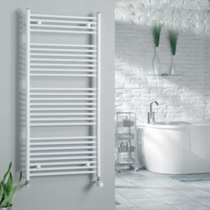 View Kudox Flat Ladder Towel Warmer White (H)1324 (W)600mm details