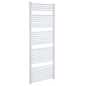 View Kudox Flat Ladder Towel Warmer White (H)1674 (W)600 mm details