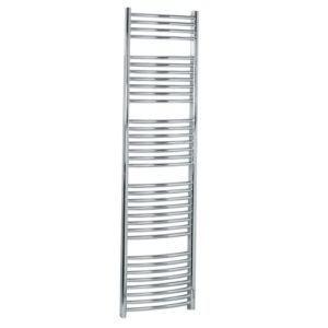 View Kudox Curved Ladder Towel Warmer Chrome (H)1674 (W)450mm details