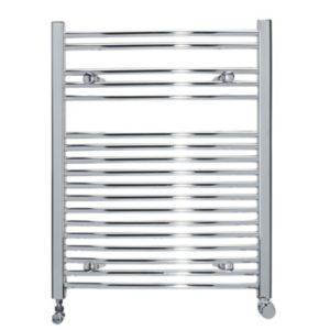 View Kudox Curved Ladder Towel Warmer Chrome (H)750 (W)600mm details