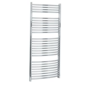 View Kudox Curved Ladder Towel Warmer Chrome (H)1324 (W)600mm details