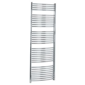View Kudox Curved Ladder Towel Warmer Chrome (H)1674 (W)600mm details