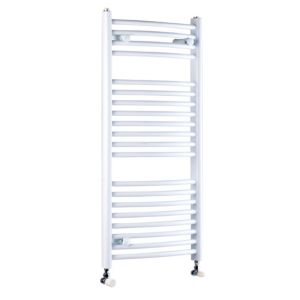View Kudox Curved Ladder Towel Warmer White (H)974 (W)450mm details