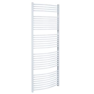 View Kudox Curved Ladder Towel Warmer White (H)1674 (W)600mm details
