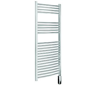 View Kudox Curved Electric Towel Warmer Chrome (H)700 (W)400mm details
