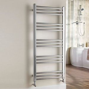 View Kudox Timeless Towel Warmer Chrome (H)1100 (W)500mm details