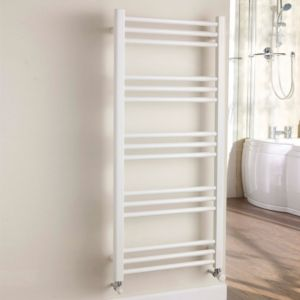 View Kudox Timeless Towel Warmer White (H)1100 (W)500mm details