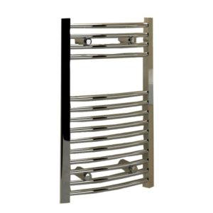 View Kudox Curved Ladder Towel Warmer Chrome (H)700 (W)400mm details