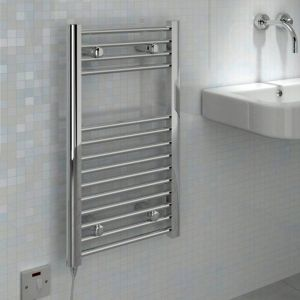 View Kudox Flat Electric Towel Warmer Chrome (H)700 (W)400mm details