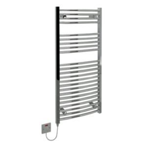 View Kudox Curved Towel Warmer Chrome (H)1100 (W)500mm details