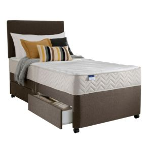 Image of Silentnight Miracoil Micro Quilted Single 2 Drawer Mattress & Divan Set