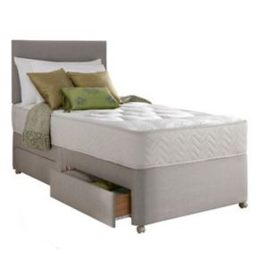 View Silentnight Miracoil Tufted Ortho Single 2 Drawer Mattress & Divan Set details