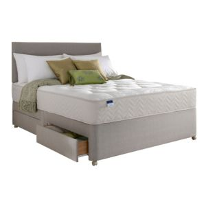 View Silentnight Miracoil Tufted Ortho Super Kingsize 4 Drawer Mattress & Divan Set details