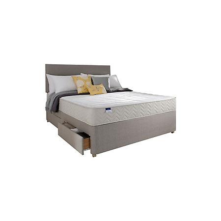 Silentnight miracoil memory fibre king size 2 drawer for King size 2 drawer divan