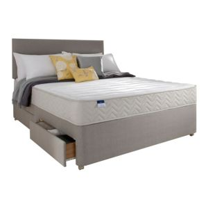 View Silentnight Kingsize Beige & White Mattress & Divan Set (H)1.5 M (W)2 M (D)645 mm details