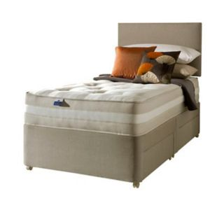 View Silentnight Single Beige & White Mattress & Divan Set (H)900 mm (W)1.9 M (D)660 mm details