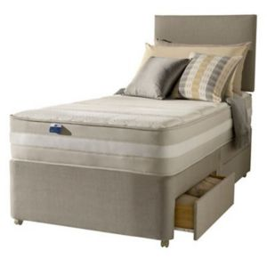 View Silentnight 1200 Mirapocket Memory Single 2 Drawer Mattress & Divan Set details