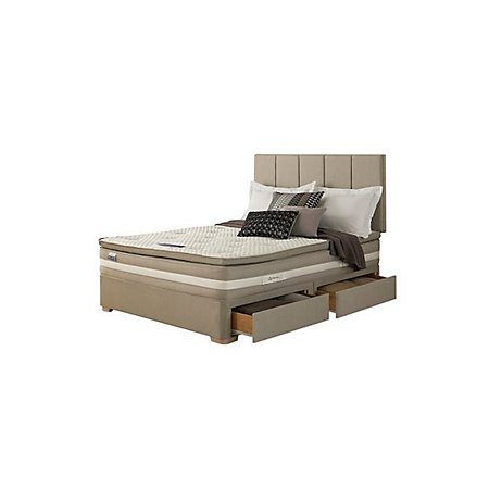 Silentnight geltex affinity 1850 mirapocket super king for Super king divan set