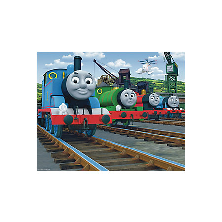 thomas the tank engine wall mural departments diy at b q. Black Bedroom Furniture Sets. Home Design Ideas