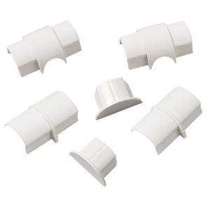 Photo of D-line abs plastic white mini trunking accessories -w-30mm pieces of 6
