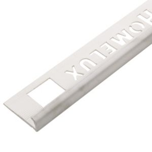 View Homelux White Plastic Tile Trim details