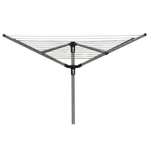 View B&Q Black & Silver 4 Arm Rotary Airer with Spike & Cover Pack of 1, (H)1.9m (W)19cm details