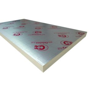 View Celotex GA4100 Insulation Board, (L)2400mm (W)1200mm (T)100mm Pack of 1 details