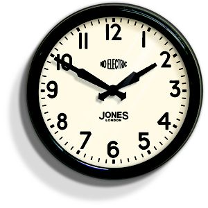 View Apollo Gloss Black Round Wall Clock details