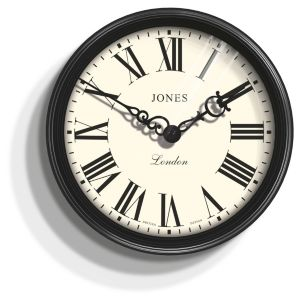 Image of Jones Savoy Traditional Black Wall Clock