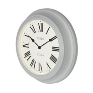 Image of Jones Cocktail Contemporary Grey Quartz Clock