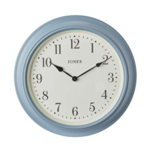 Image of Jones Supper club Old boat blue Wall clock