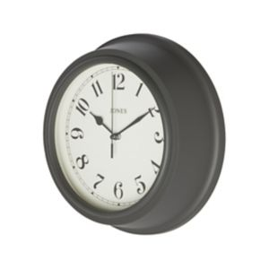 Image of Jones Can Contemporary Grey Quartz Clock