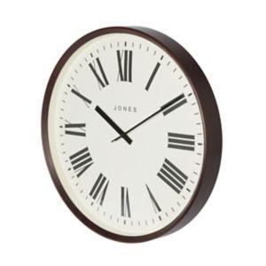 Image of Jones Barber Contemporary Dark wood Quartz Clock