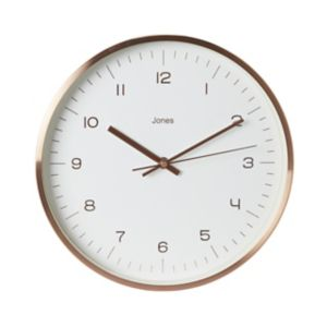 Image of Jones Fame Copper effect Wall clock