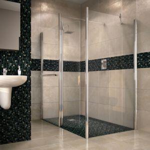 Aquadry WalkIn Shower Screen End Panel (W)700mm