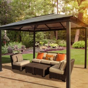 View STC Madrid Metal Gazebo - Assembly Required details