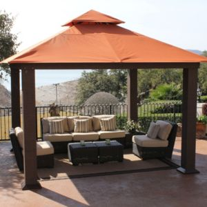 View Stc Seville Metal & Fabric Gazebo - Assembly Required details