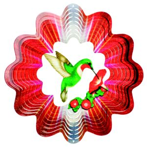 Image of Active Green Hummingbird Wind Spinner
