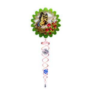 Image of Active Butterfly & crystal Twister ornament