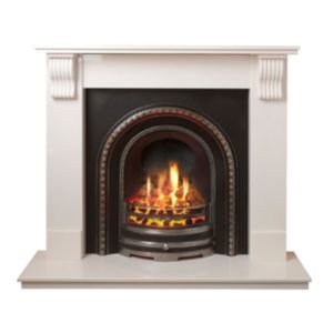 Image of Aurora Victoria White Manual Control Wall Hung Gas Fire