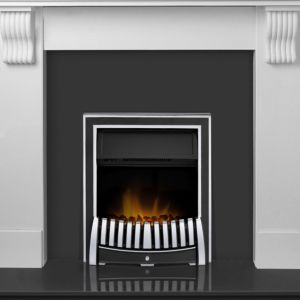 Image of Adam Black & white LED lighting Electric fire