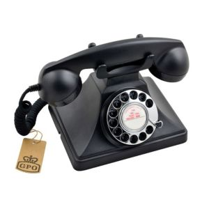 Image of Gpo Classic Black Corded Rotary Telephone