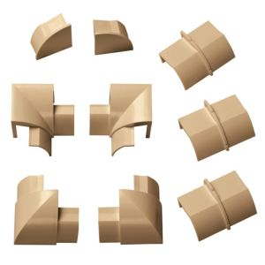 View D-Line ABS Plastic Wood-Effect Trunking Accessories, Pack of 9 Pieces details