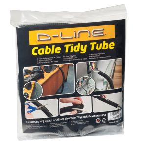 Image of D-Line Black Plastic Cable tidy tube