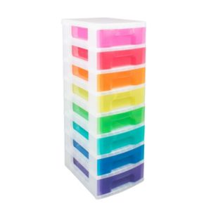 View Really Useful Multicolour Plastic 8 Drawer Tower Unit details