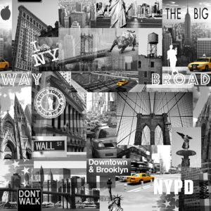 View Big Apple Grey & Yellow Wallpaper details
