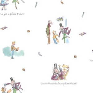 View Roald Dahl Golden Ticket Multicolour Wallpaper details